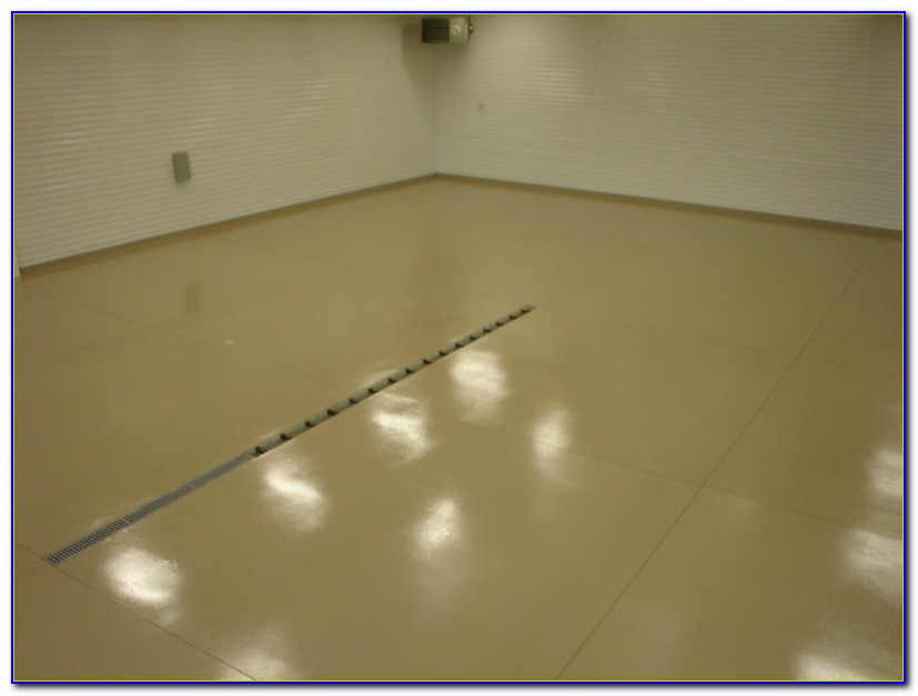 Speckled Concrete Floor Paint