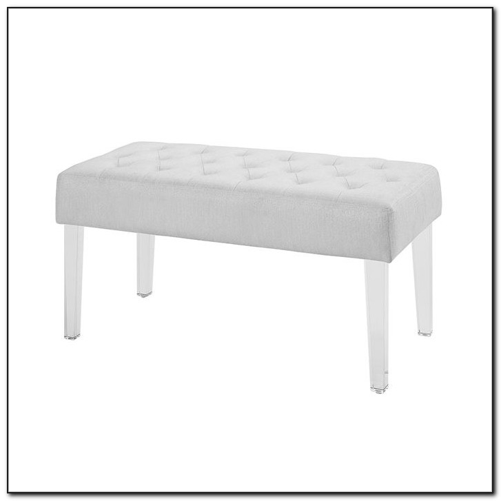 Storage Bench With Acrylic Legs