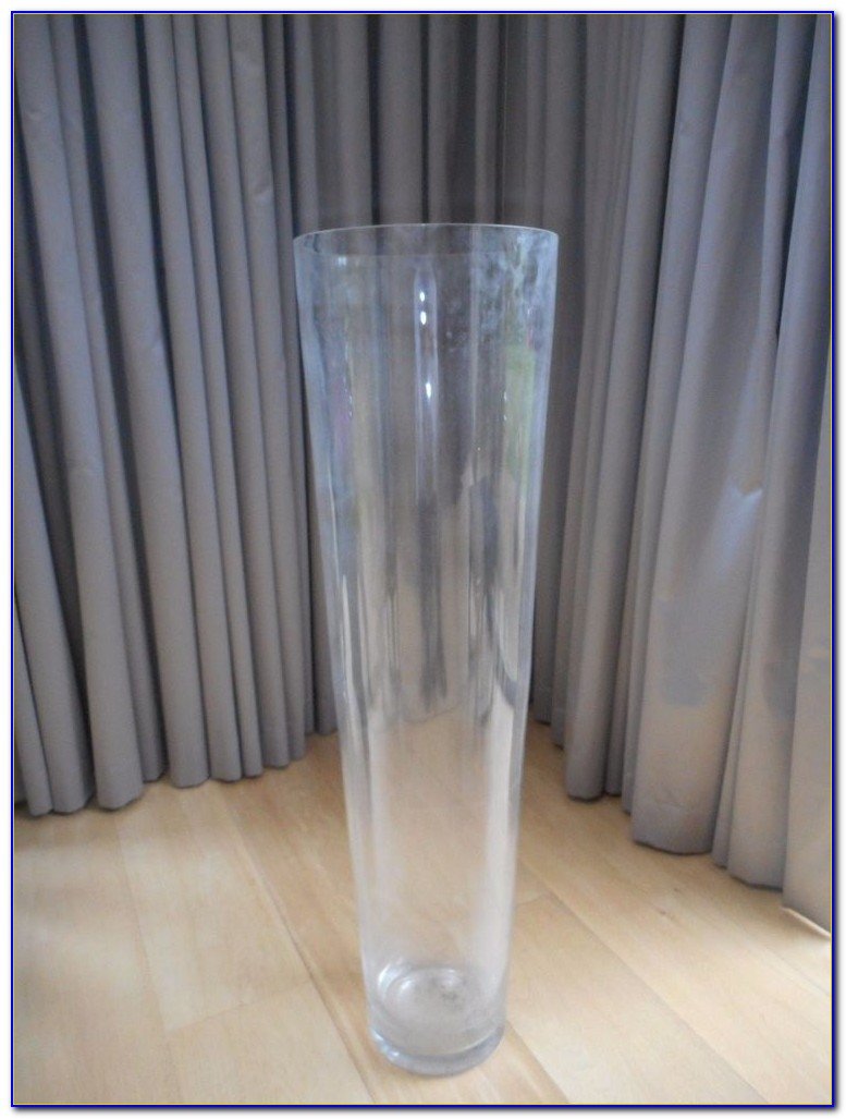 Tall Colored Glass Floor Vases