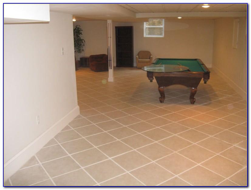 Tiling A Basement Floor Ideas