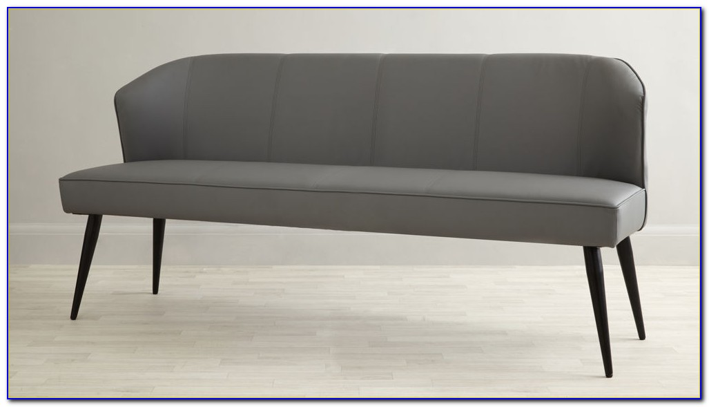 Upholstered Dining Bench With Backrest