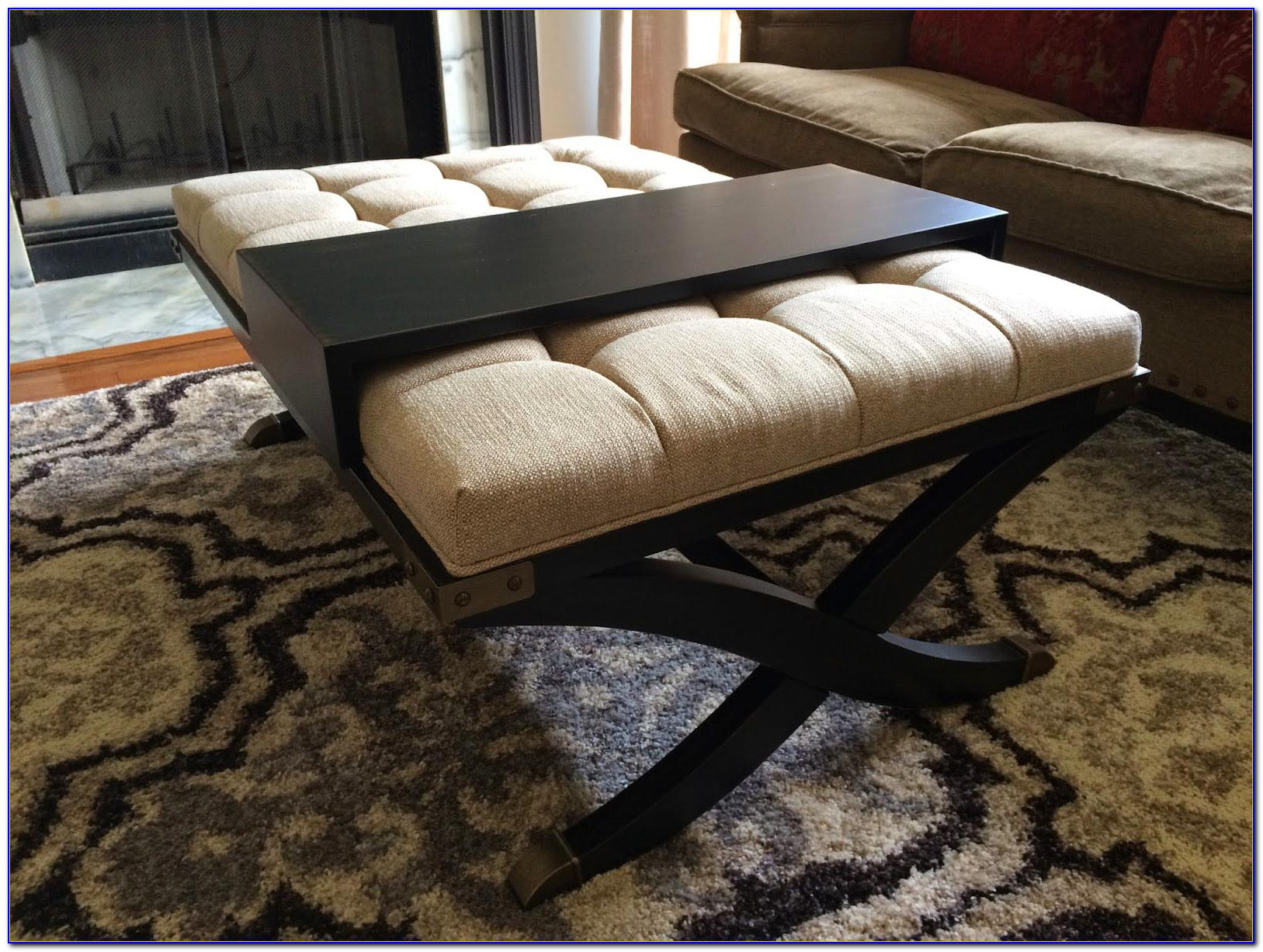 Upholstered Ottoman Bench With Storage