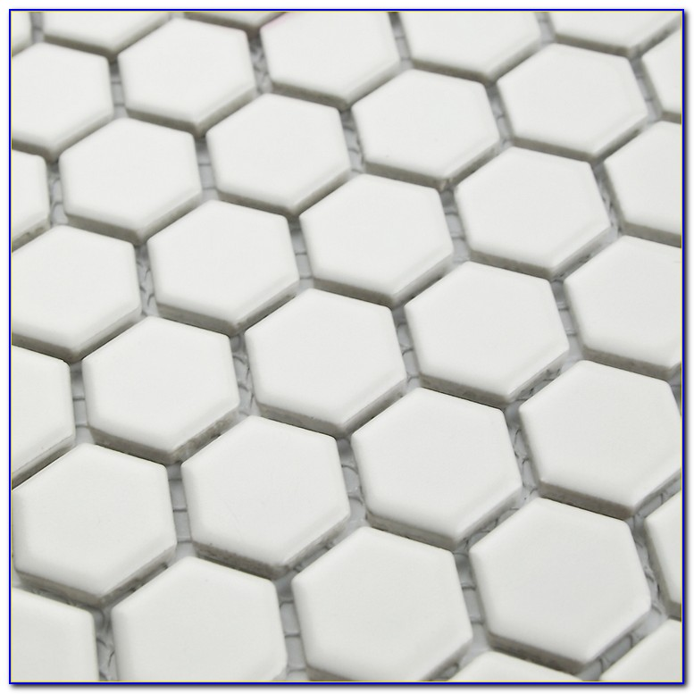 White Ceramic Hexagon Floor Tile