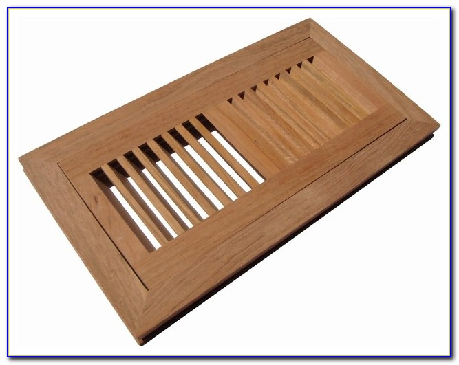 Wooden Floor Registers Flush Mount