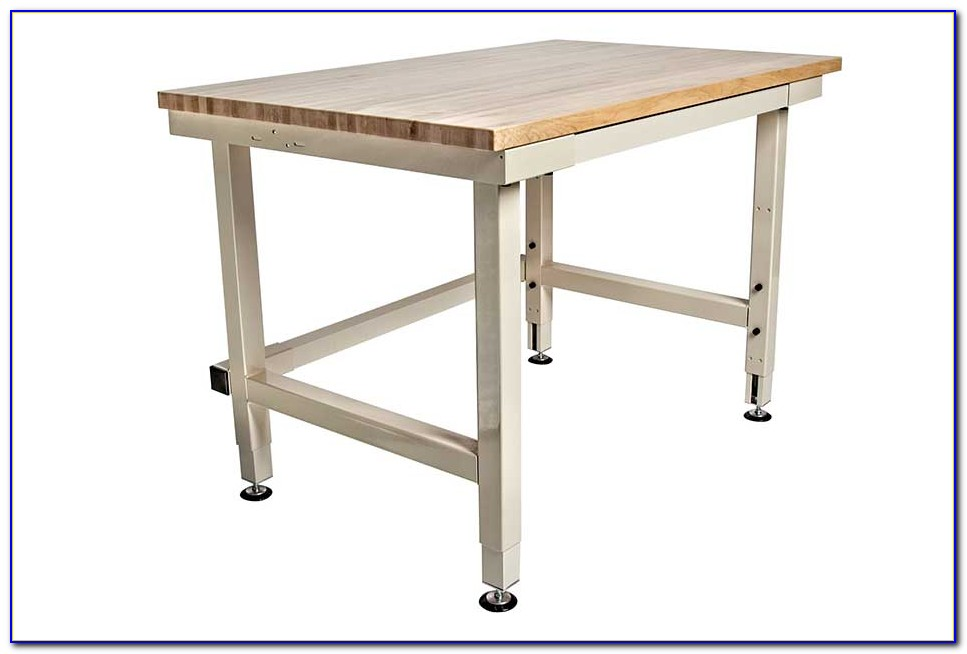 Adjustable Height Work Bench Table