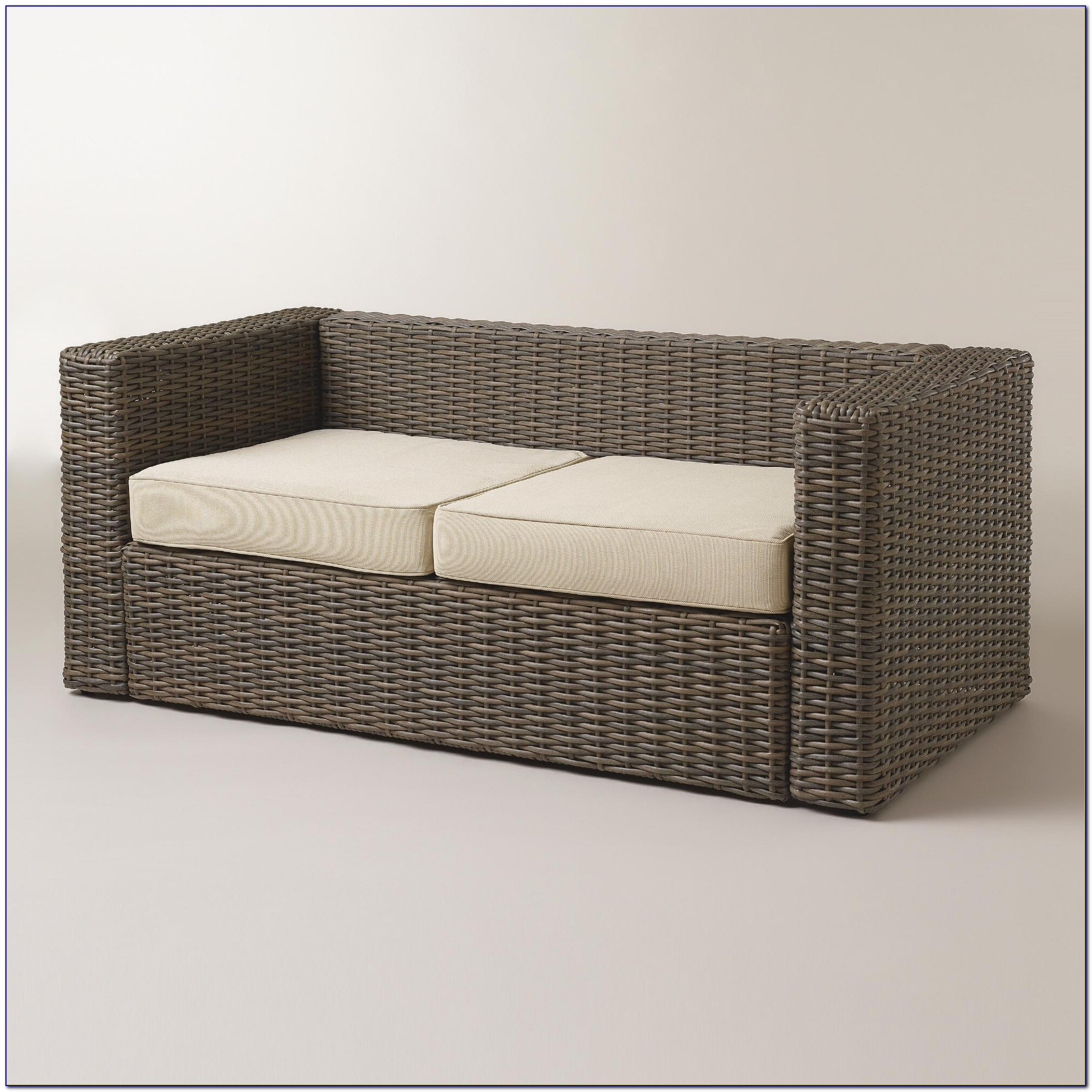 All Weather Wicker Bench