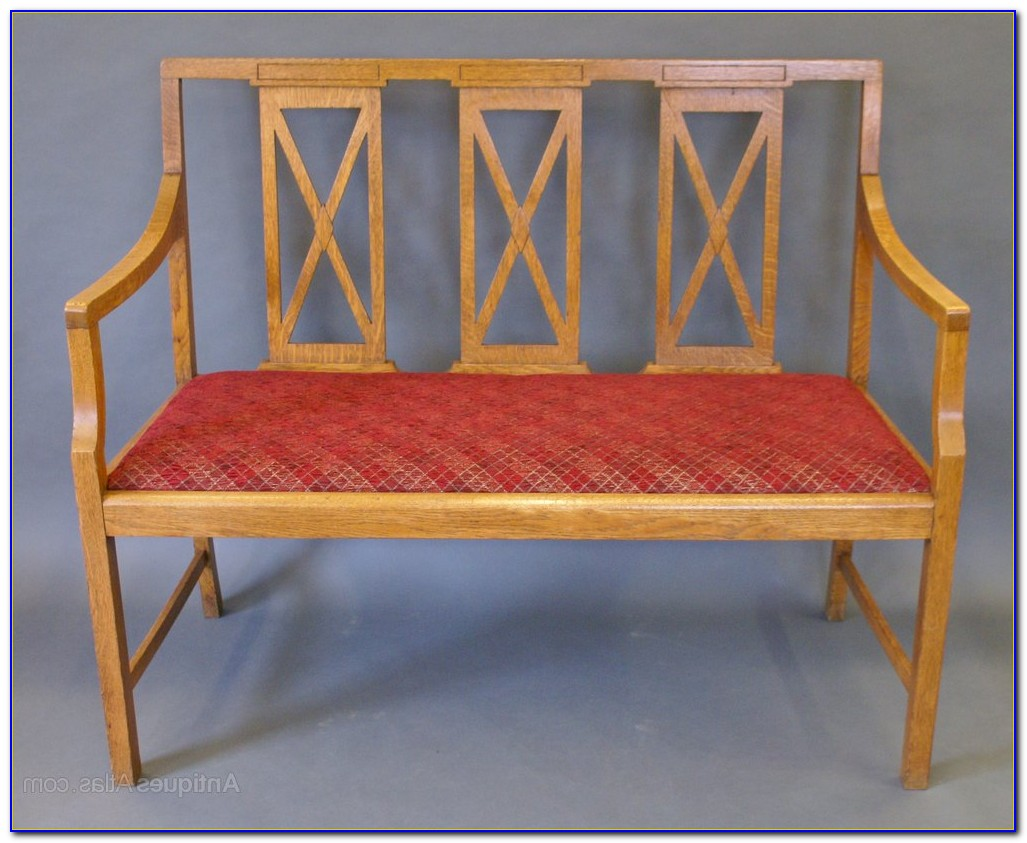 Arts And Crafts Bench Seat