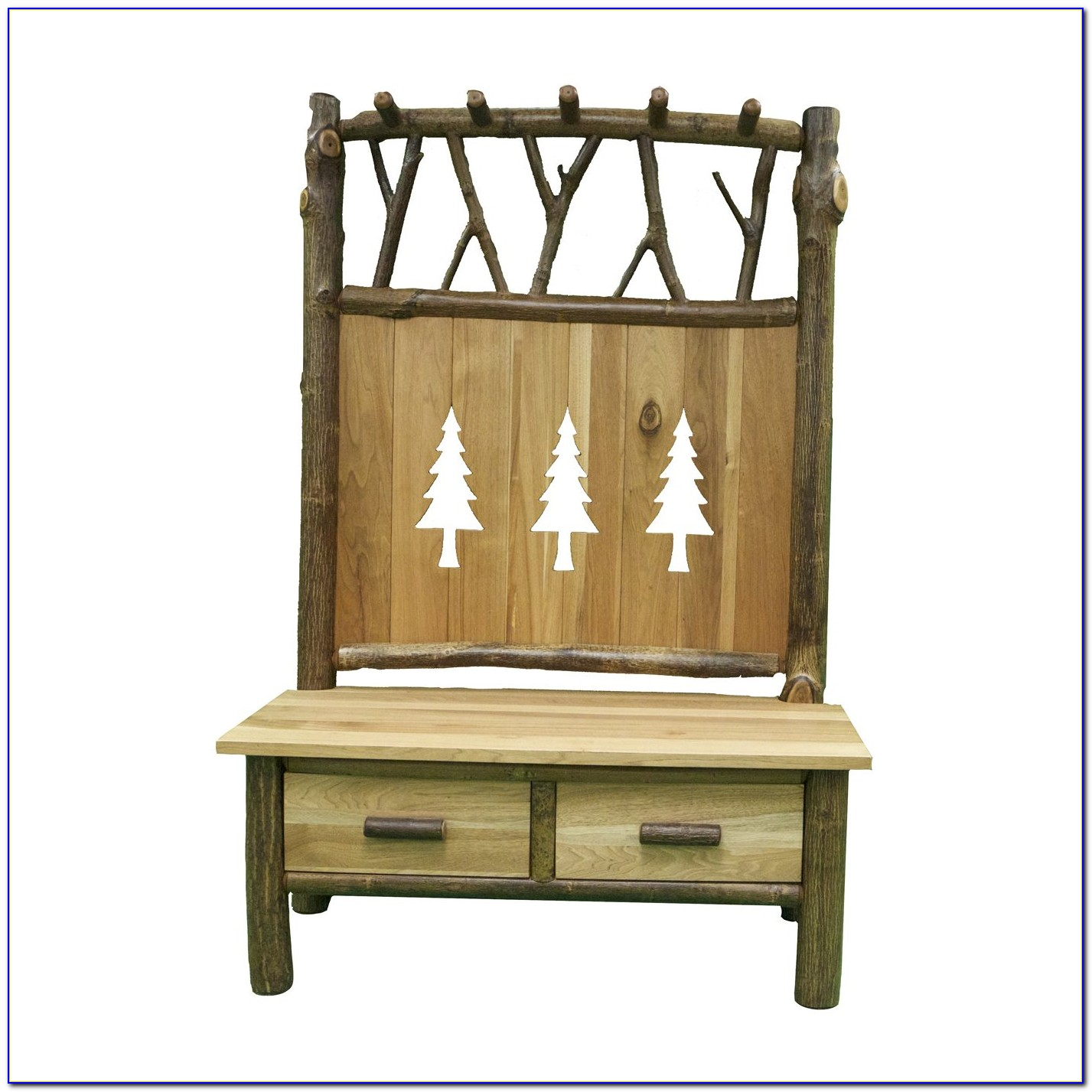Bench And Coat Rack Entryway
