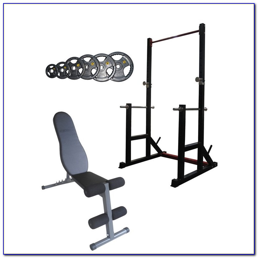 Bench And Squat Rack Combo With Weights