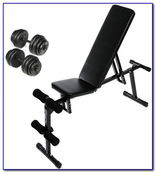 Bench Press And Weights Set