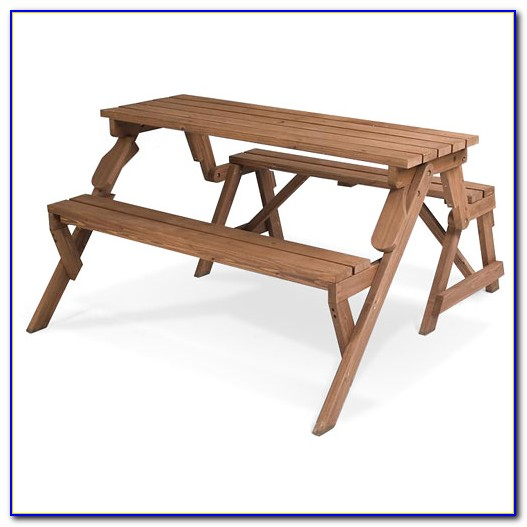 Bench Seat Converts To Picnic Table