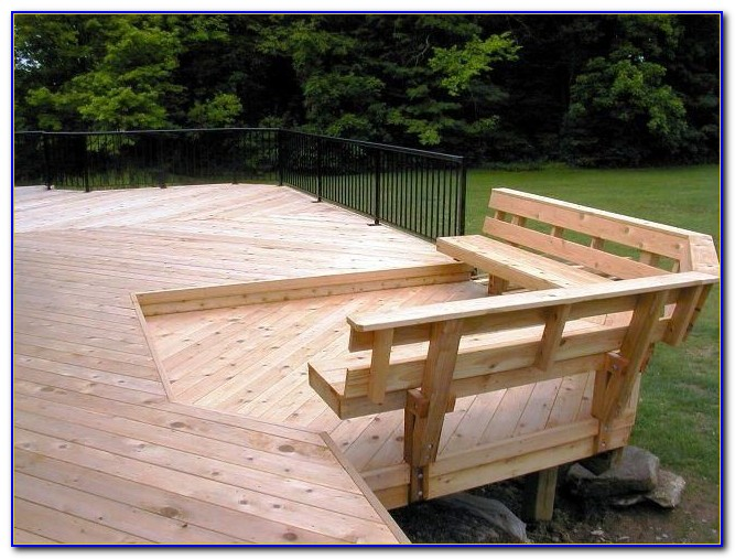 Bench Seating Around Deck