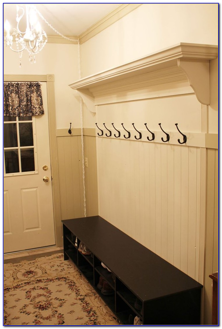 Black Entryway Bench And Coat Rack