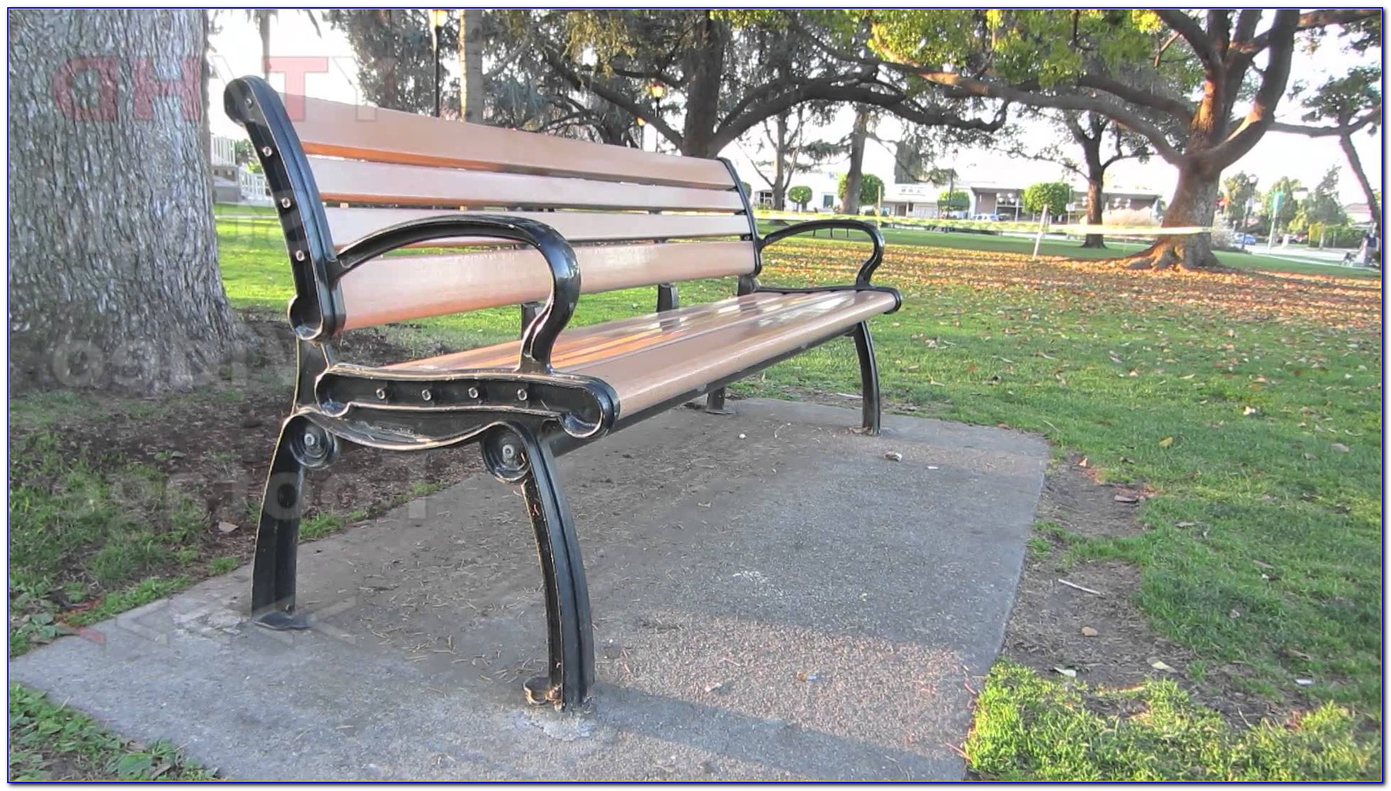 Black Wrought Iron Park Bench