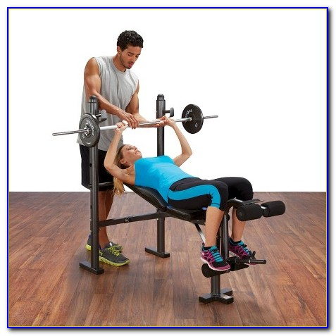 Body Champ Mid Width Weight Bench With Leg Developer