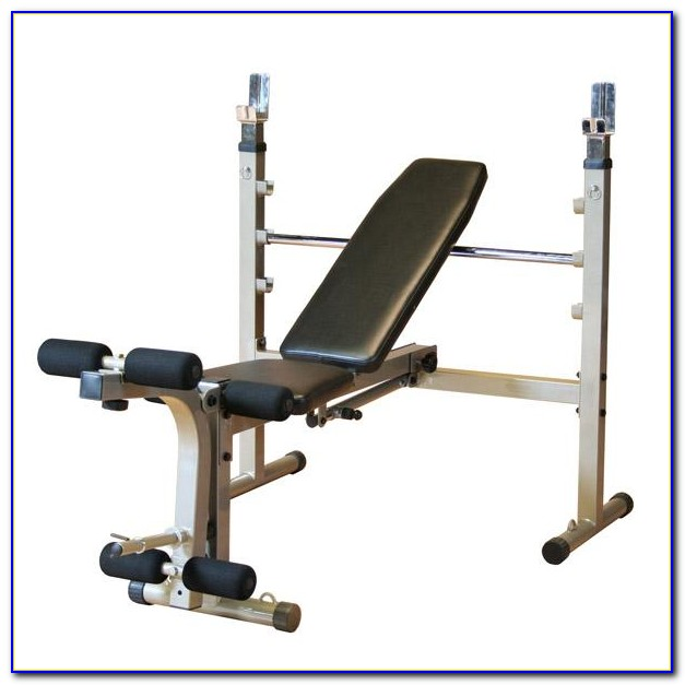 Body Solid Gdib46lp Olympic Bench Package