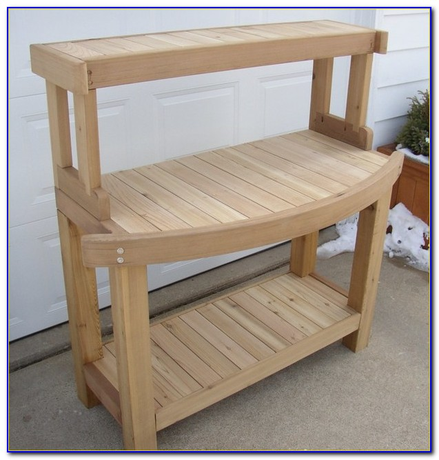 Build A Cedar Potting Bench