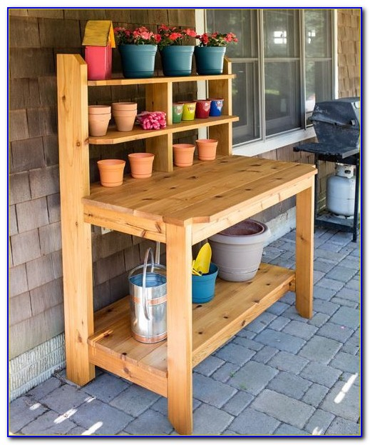 Build A Garden Potting Bench