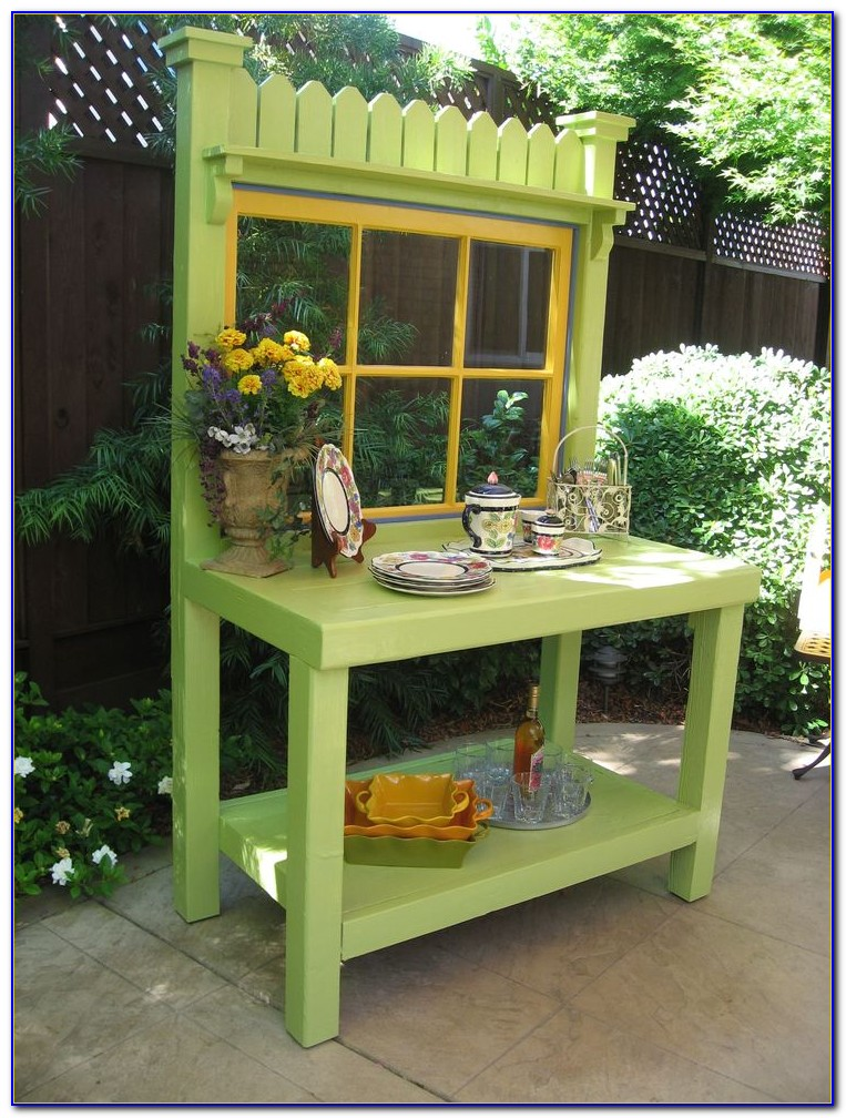 Build A Potting Bench With Sink