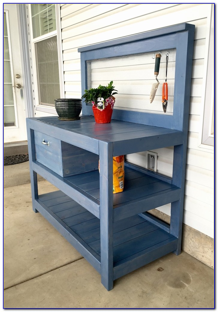 Build A Small Potting Bench
