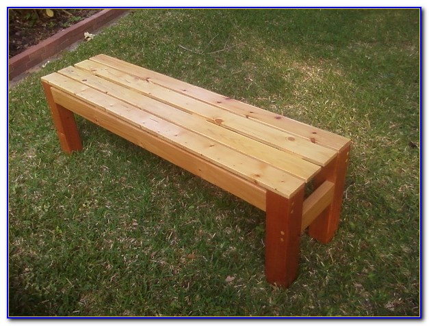 Build A Wooden Bench Seat