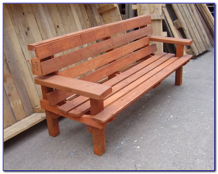 Build A Wooden Bench With Back
