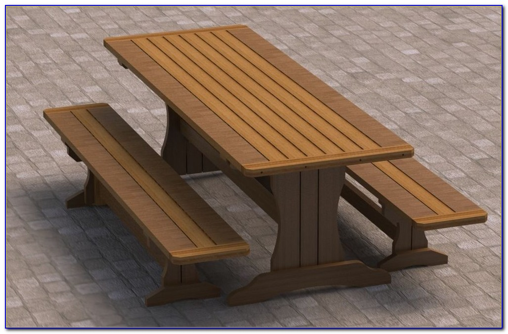 Build Picnic Table With Separate Benches