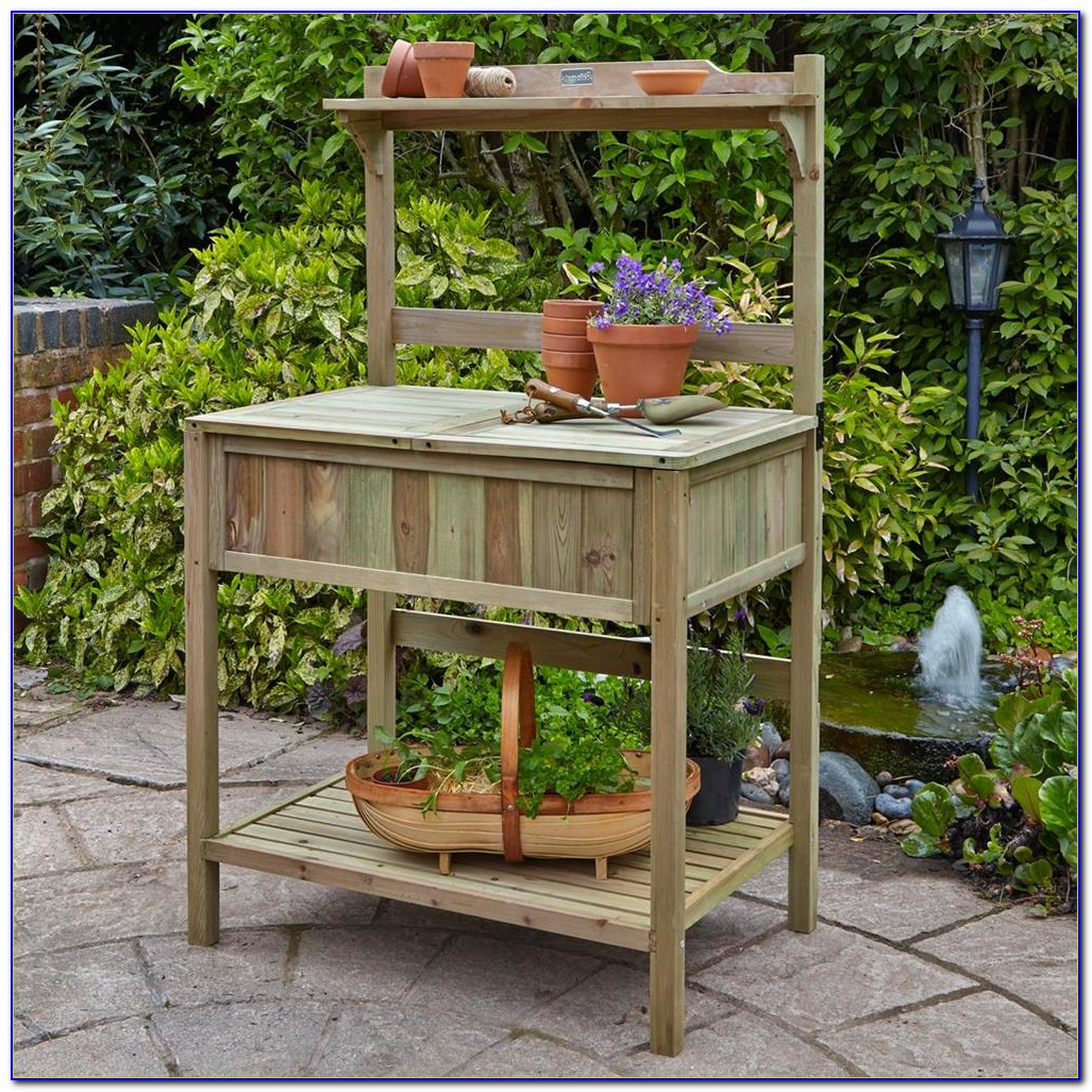 Build Potting Bench On Wheels