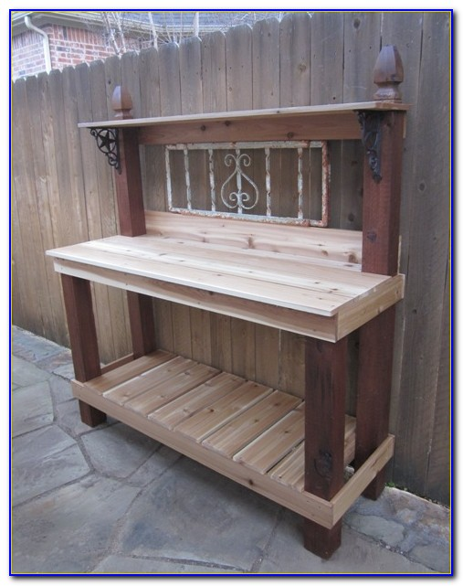 Building A Potting Bench From Pallets