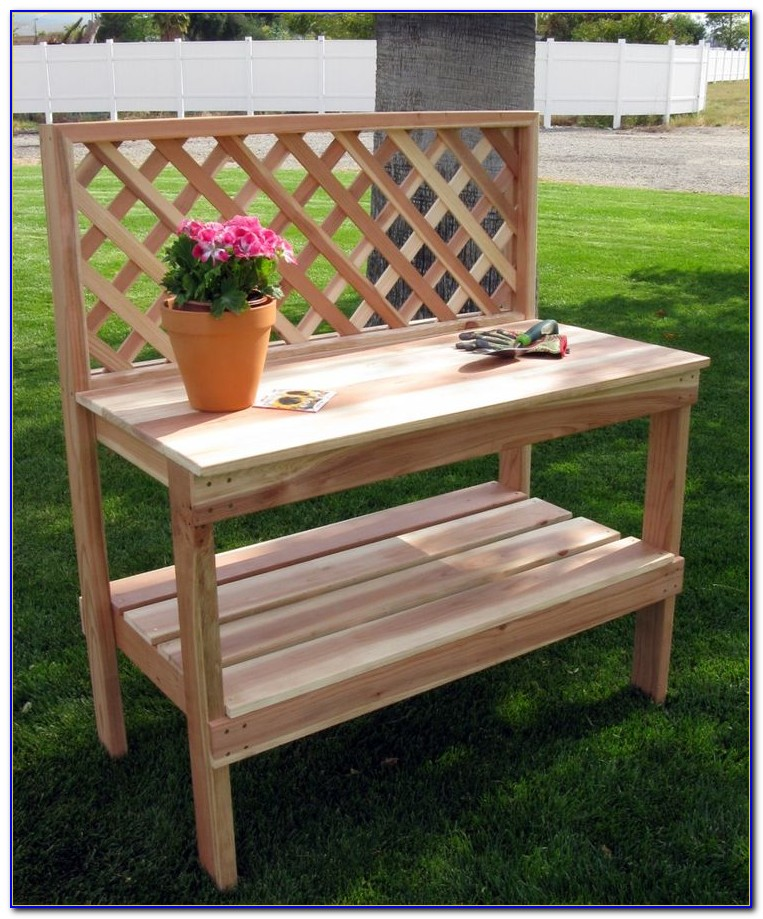 Building A Simple Potting Bench