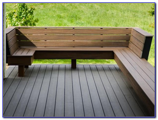 Built In Bench Seating On A Deck