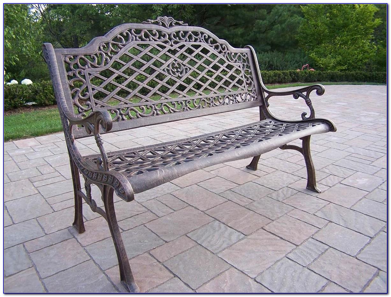 Cast Aluminum Patio Bench