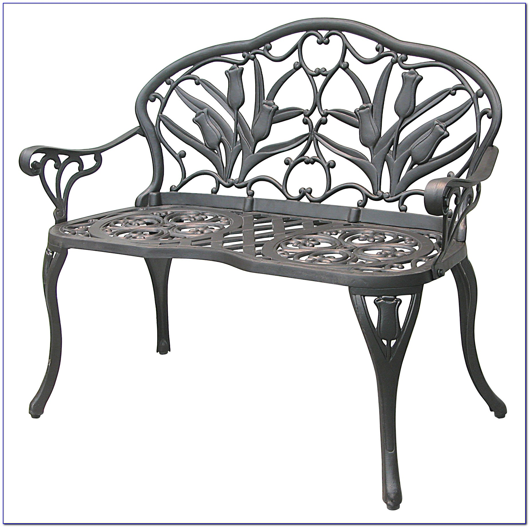 Cast Iron Aluminum Patio Bench