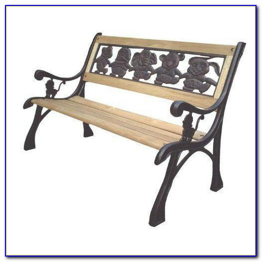 Cast Iron And Wooden Benches