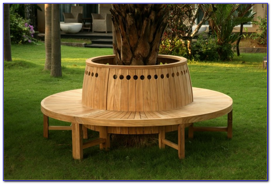 Circular Bench Around Tree