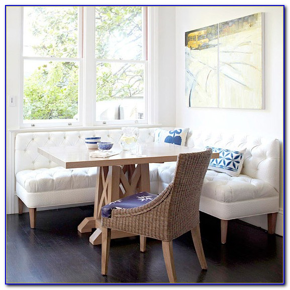 Corner Breakfast Nook With Storage Bench