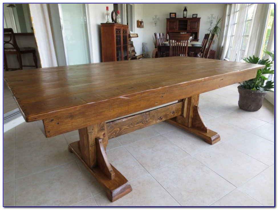 Dark Wood Bench Dining Table