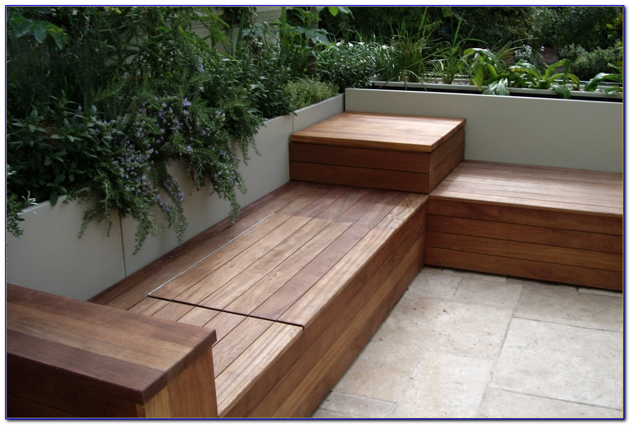 Deck Benches With Storage