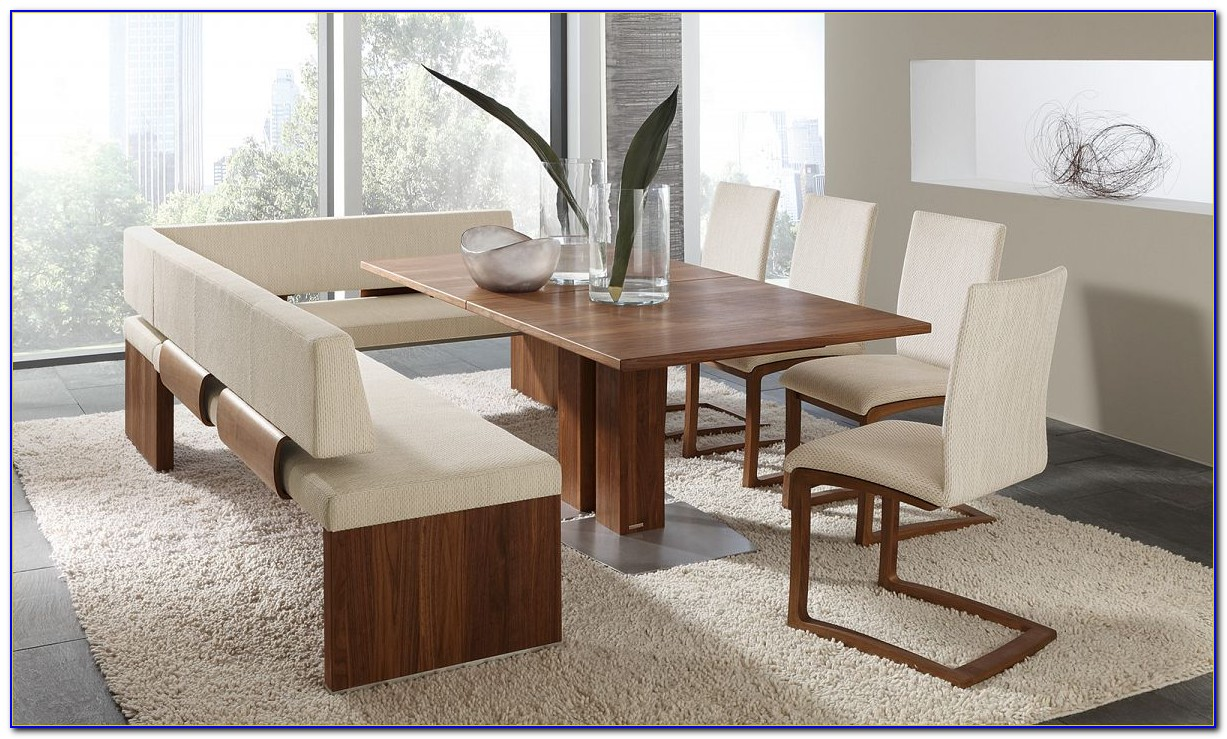 Dining Room Table With Built In Bench Seating