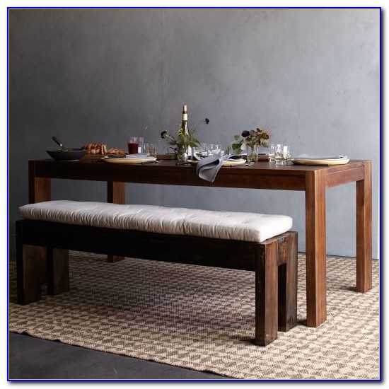 Dining Table Bench With Cushion