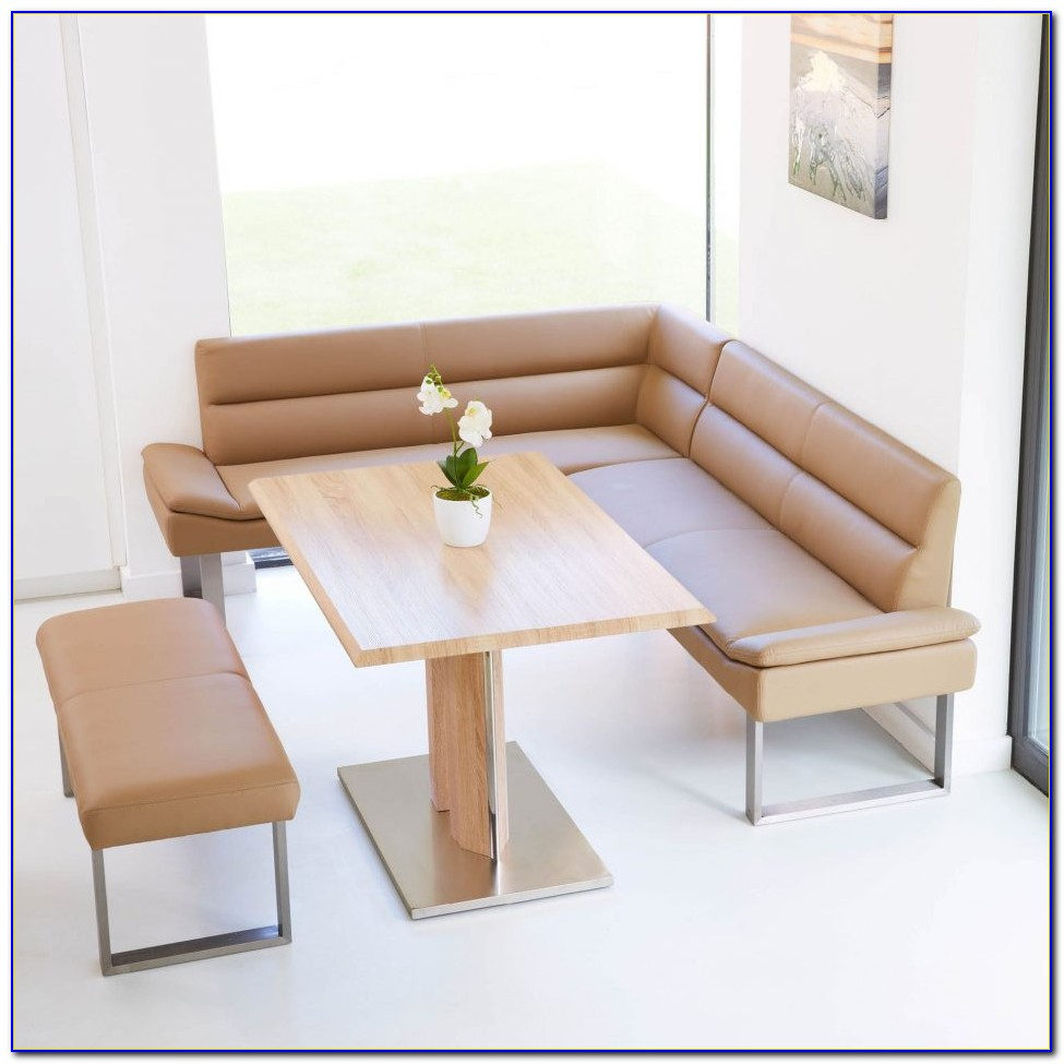 Dining Table With Nook & Corner Bench