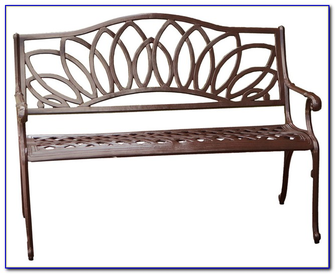 Elite Cast Aluminum Patio Settee Bench