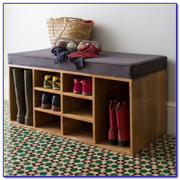 Entry Bench With Shoe Rack