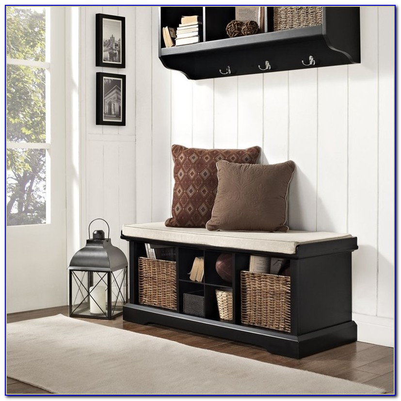 Entryway Bench And Storage Shelf