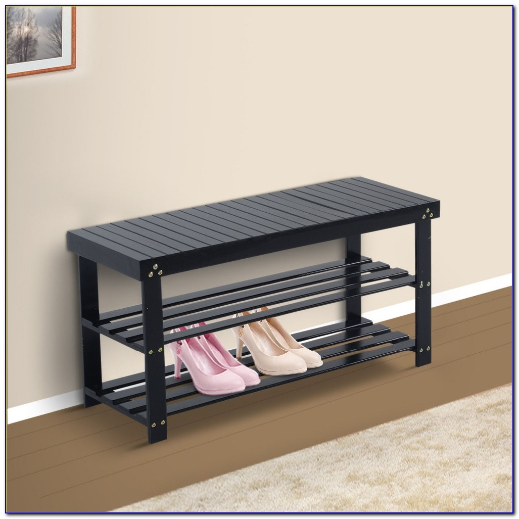Entryway Bench With Shoe Storage Compartments
