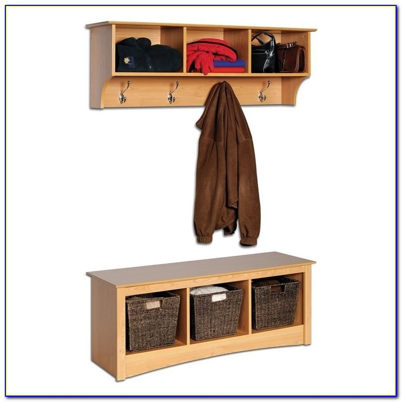 Entryway Coat Rack Storage Bench