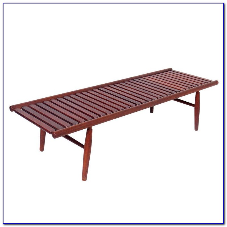 Expandable Slat Bench Coffee Table