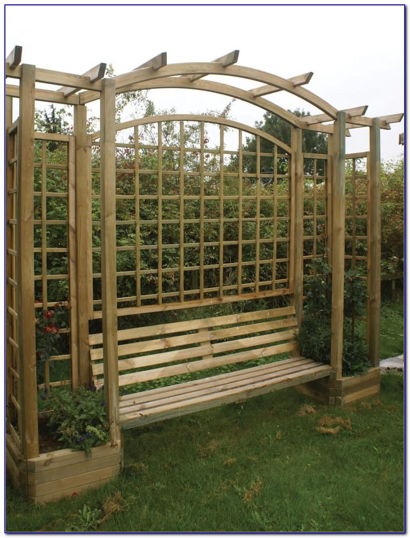 Garden Trellis With Bench