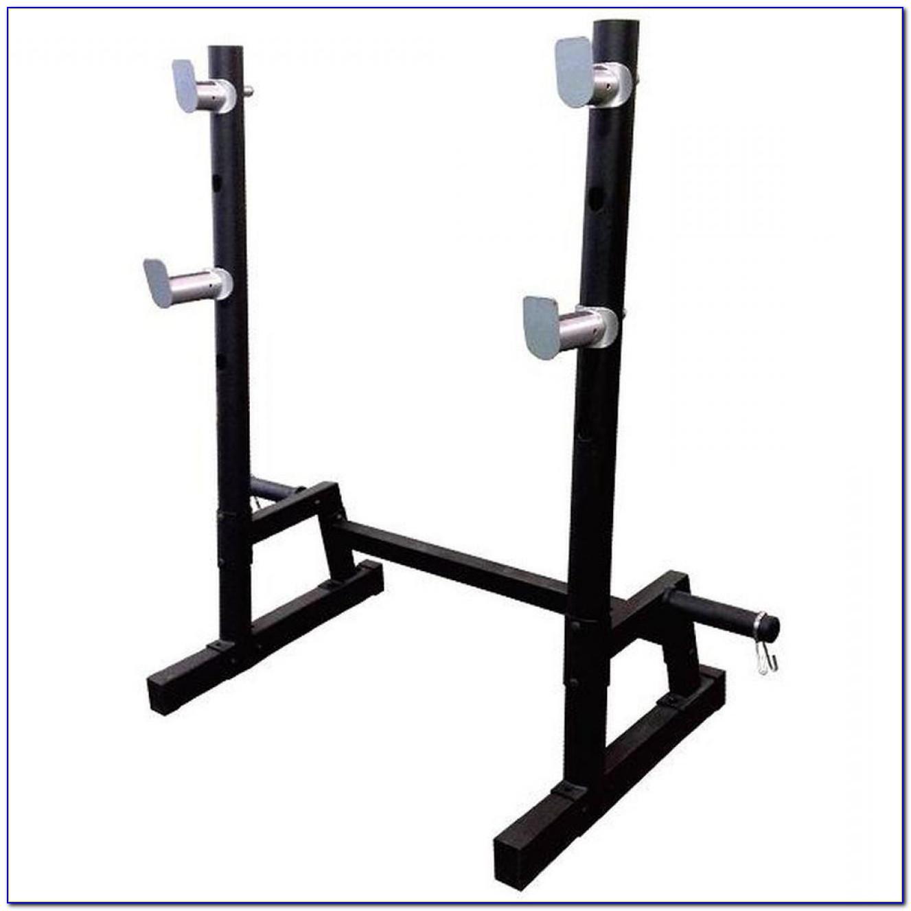 Homemade Squat Rack Bench Press