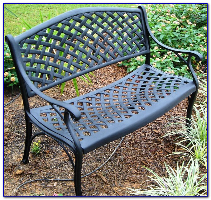 Hummingbird Cast Aluminum Garden Bench